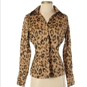 NY&C Leopard Print Button Up